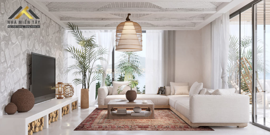 Phong cách thiết kế nội thất mộc mjac  ưu tiên sử dụng nguyên liệu từ thiên nhiên, chủ đạo là gỗ.
