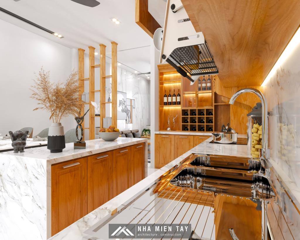 nội thất bếp ăn nhà phố hiện đại
